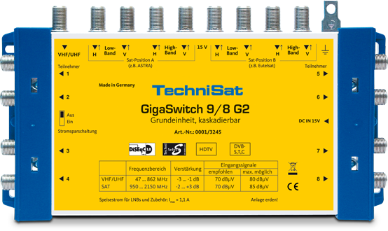 Multiswitch TechniSat 9/8 G2 DC-NT